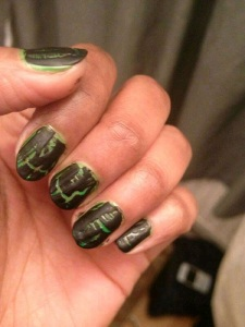 nials black n green