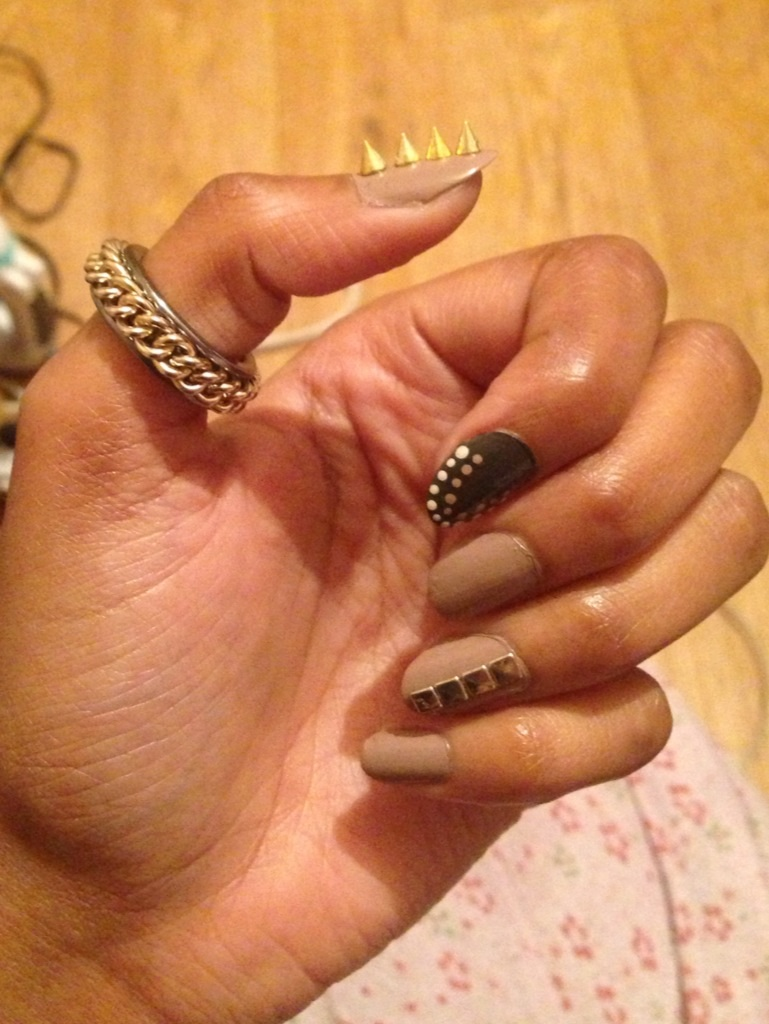 Spiked Studs on Nail trend